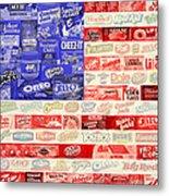 Food Advertising Flag Metal Print
