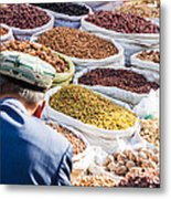 Food At Local Bazaar - Kashgar - China Metal Print