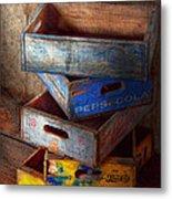 Food - Beverage - Pepsi-cola Boxes  Metal Print