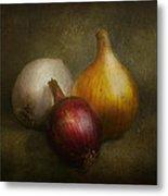 Food - Onions - Onions  Metal Print by Mike Savad