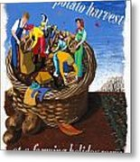 Food Production Lend A Hand With The Potato Harvest Metal Print