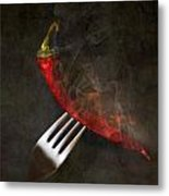 Food Spicy Menu Concept  Metal Print