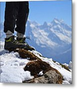 Foot On The Himalyas Metal Print