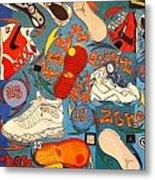 Foot Print Zone  Metal Print by Mj  Museum