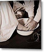 Foot Washing Metal Print by Stephanie Grooms