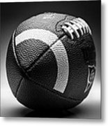 Football Black And White Metal Print