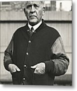 Football Coach Alonzo Stagg Metal Print