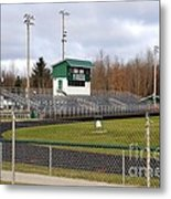 Football Field In Clare Michigan Metal Print