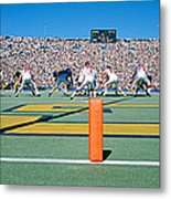 Football Game, University Of Michigan Metal Print