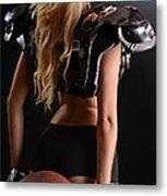 Football Girl Metal Print