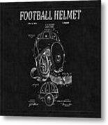 Football Helmet Patent 4 Metal Print