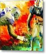 Football IIi Metal Print by Lourry Legarde