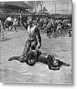 Football Injury, 1891 Metal Print