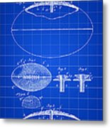 Football Patent 1902 - Blue Metal Print