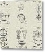 Football Patent Collection Metal Print