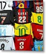 Football Shirts Inside The Grand Bazaar In Istanbul Turkey Metal Print