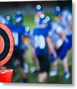 Football Sideline Marker Metal Print