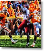 Football Time In Tennessee Metal Print