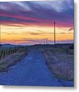 Foothill Sunset Metal Print