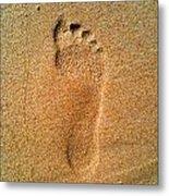 Footprint Metal Print