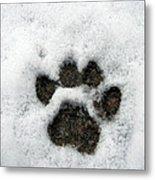 Footprint Series. Cat Metal Print