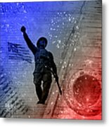 For Freedom Metal Print