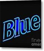 For You Madame Blue Metal Print