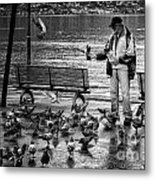 For The Birds Bw Metal Print