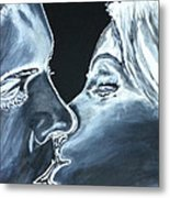 Forbidden Kiss Metal Print