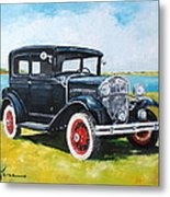 Ford A Tudor Sedan Metal Print