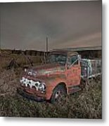 Abandoned Ford Farm Truck And Northern Lights Metal Print