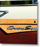 Ford Country Sedan Emblem Metal Print