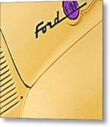 Ford F-100 Emblem Pickup Truck Metal Print