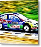 Ford Focus Wrc Metal Print by motography aka Phil Clark