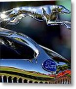 Ford Hood Ornement Metal Print