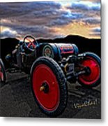 Ford Model T Racer Beat The Storm Home Metal Print
