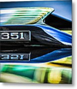 Ford Mustang 351 Engine Emblem -1011c Metal Print