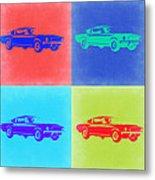 Ford Mustang Pop Art 2 Metal Print