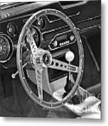 Ford Mustang Shelby In Black And White Metal Print