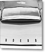 Ford Thunderbird Monochrome Metal Print