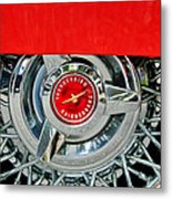Ford Thunderbird Wheel Emblem Metal Print