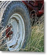 Ford Tractor Tire Metal Print by Jennifer Ancker
