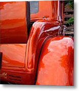 Ford V8 Rear View With Rumble Seat Metal Print