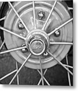 Ford Wheel Emblem -354bw Metal Print