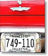 Ford With Minnesota Licence Plate Metal Print