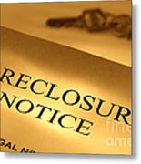 Foreclosure Notice Metal Print by Olivier Le Queinec