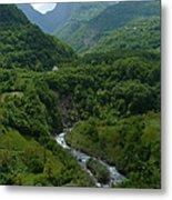 Moraca River And Mountains Metal Print