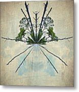 Forest Bouquet Wee Planet Metal Print