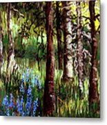 Forest Evening Glow Metal Print