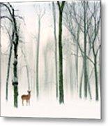 Forest Friend Metal Print